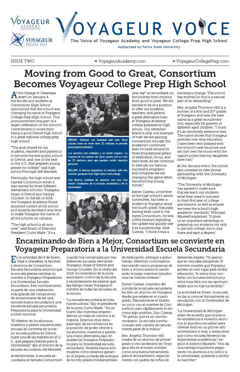 Voyageur Voice Newsletter