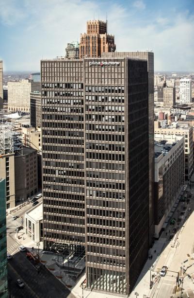 Bedrock building in Downtown Detroit